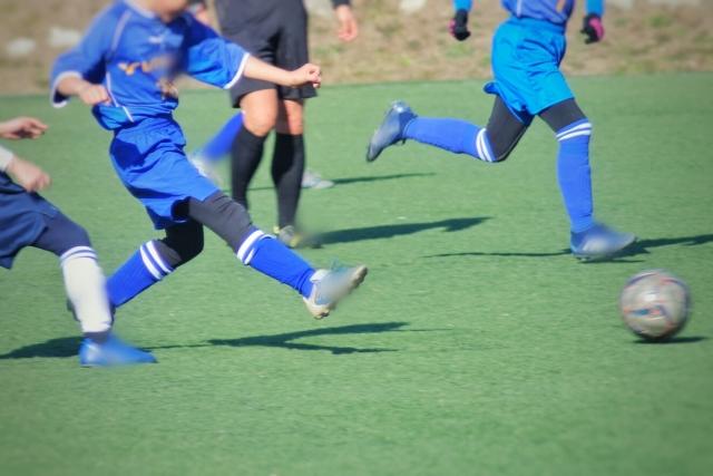 サッカーを習い始めた息子
